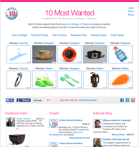 10 Most Wanted website home page