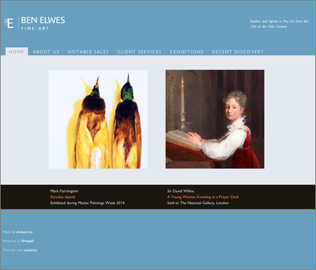 Ben Elwes website home page
