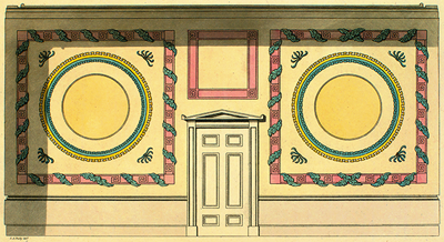 Busby drawing of a wall decoration