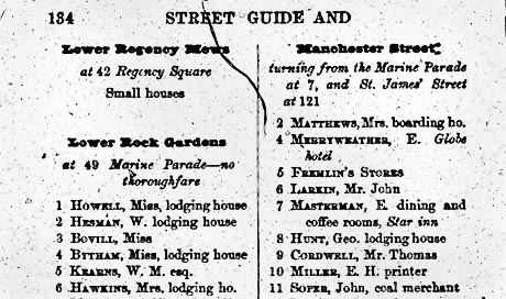 Page from street directory