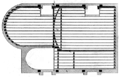 Plans of a floor to a 'first rate' house