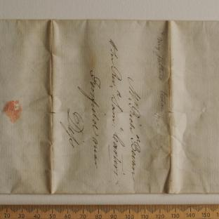 Bevan letter - 1820s - first unfold front