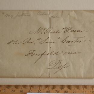 Bevan letter - 1820s - front