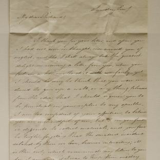 Bevan letter - 1820s - second unfold back