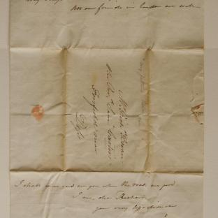 Bevan letter - 1820s - second unfold front