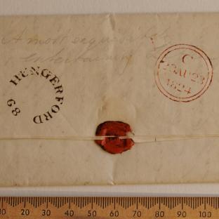 Bevan letter - 21 Aug 1824 - back