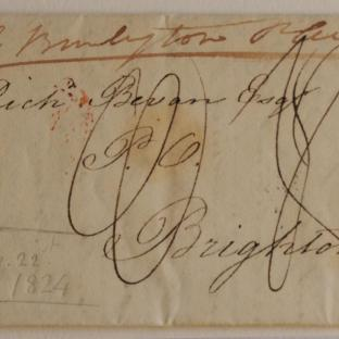 Bevan letter - 21 August 1824 - front