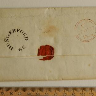 Bevan letter - 27 August 1824 - back
