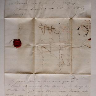 Bevan letter - 26 Aug 1825 -second unfold front