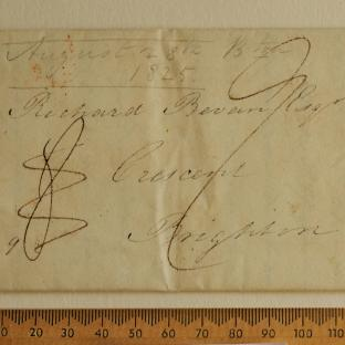 Bevan letter - 26 Aug 1825 - front