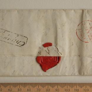 Bevan letter - 20 Aug 1829 - back