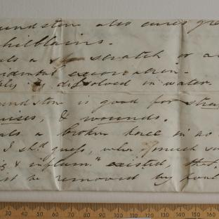 Bevan letter - 3 Aug 1829 - first unfold back