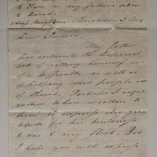 Bevan letter - 3 Aug 1829 - second unfold back