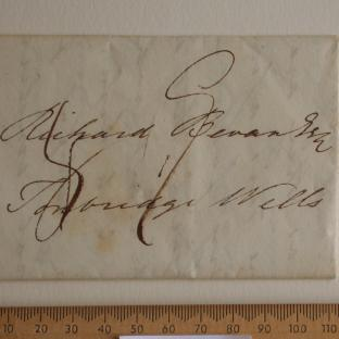 Bevan letter - 3 Aug 1829 - front