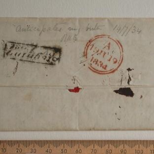 Bean letter - 18 Jun 1834 - back
