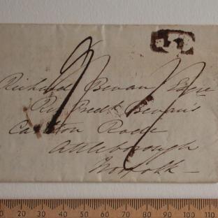 Bevan letter - 18 Jun 1834 - front