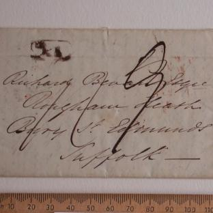 Bevan letter - 21 Jun 1834 - front