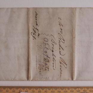 Bevan letter - 8 Mar 1849 - firts unfold front
