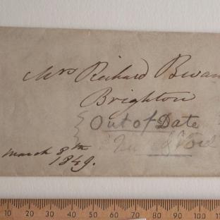 Bevan letter - 8 Mar 1849 - front