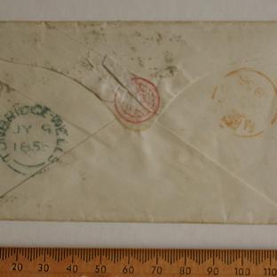 Bevan letter - 9 Jul 1856 - back