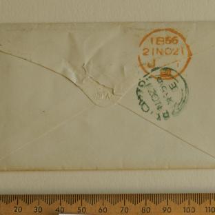 Bevan letter - 21 Nov 1856 - back