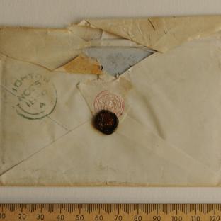 Bevan letter - 24 Nov 1856 - back