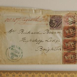 Bevan letter - 24 Nov 1856 - front