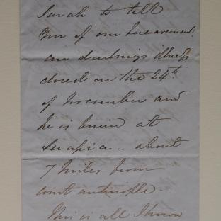 Bevan letter - 6 Dec 1856 - second letter page one