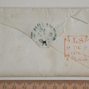 Bevan letter - 8 Dec 1856 - back