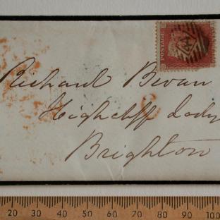 Bevan letter - 8 Dec 1856 - front