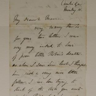 Bevan letter - 15 Dec 1856 - page one
