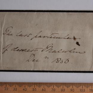Bevan letter - 24 Dec 1856 - front