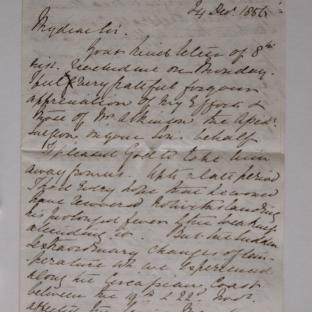 Bevan letter - 24 Dec 1856 - page one