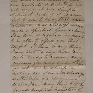 Bevan letter - 27 Nov 1870 - page six