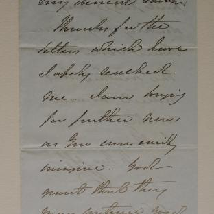 Bevan letter - 26 Nov 1856 - page one