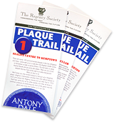 Photograph of Blue Plaque Trail leaflets